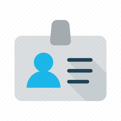 badge, business, id, identification, identity, personal, profile icon