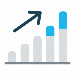 business, data, economy, graph, increase, rewenue growth, statistics icon
