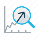analyze, business, economy, growth, increase, rewenue growth, statistics icon
