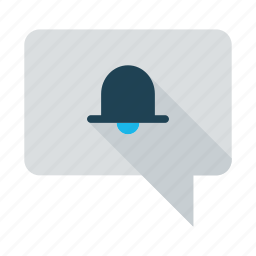 alert, bell, bubble, business, message, notification, ring icon