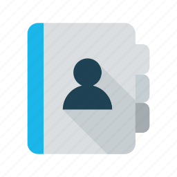 address book, addresses, business, contact, diary, directory, list icon