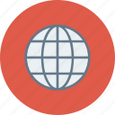 blue, global, globe, international, language, travel, world icon icon