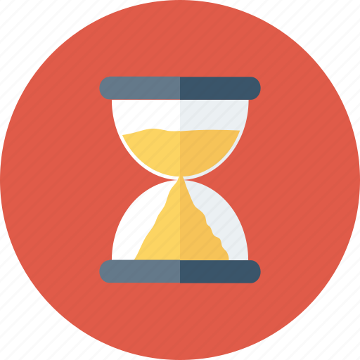 clock, hourglass, sand, timer icon icon