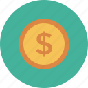 coin, dollar, finance, money icon icon