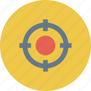 crosshair, pin pinter, shoot, target, target icon icon