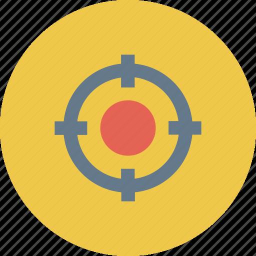 crosshair, pin pinter, shoot, target, target icon icon