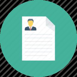 contract, cv, document, resume icon icon