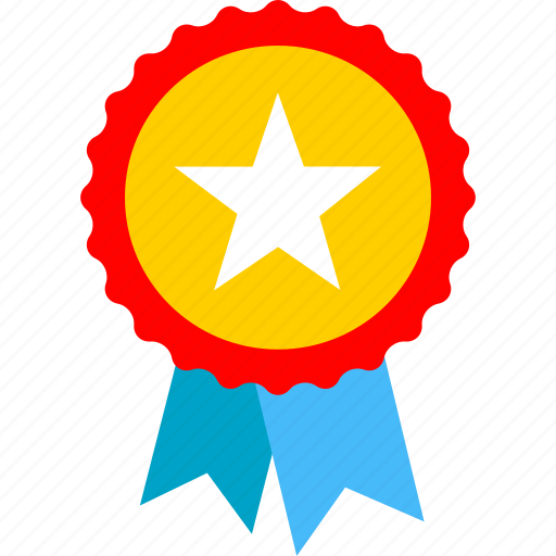 achievement, award, badge, medal, ribbon icon