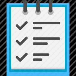checklist, clipboard, form, list, report, tasks, todo icon