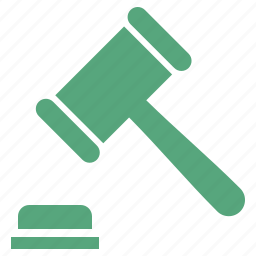 auction, gavel, hammer, justice, law icon