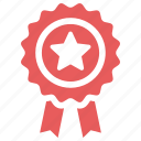 achievement, award, best quality, guarantee, ribbon