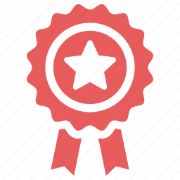 achievement, award, best quality, guarantee, ribbon icon