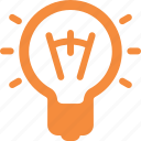 brainstorming, business idea, creativity, light bulb icon
