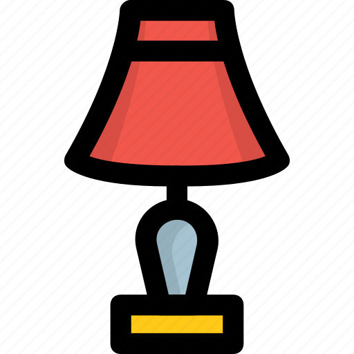 bedroom lamp, bedside lamp, lamp, light, table lamp icon