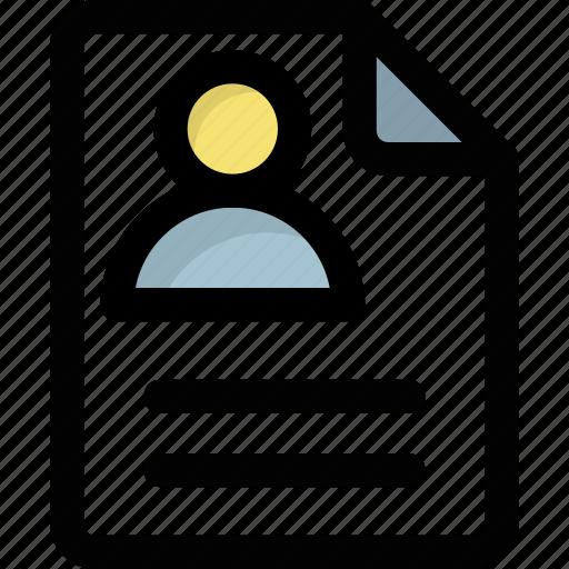 biodata  curriculum vitae  cv  profile  resume icon