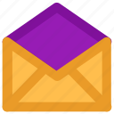 email, envelope, letter, mail, message, open