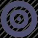 bulls-eye, circle, focus, target icon