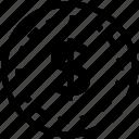 coin, dollar, money, sign icon icon