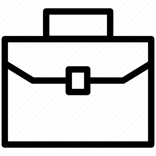 attaché, briefcase, portfolio, suitcase icon icon