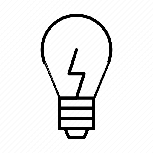 Lightbulb, bulb, lamp, idea, light icon