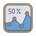 analytics, business, chart, graph, growth icon