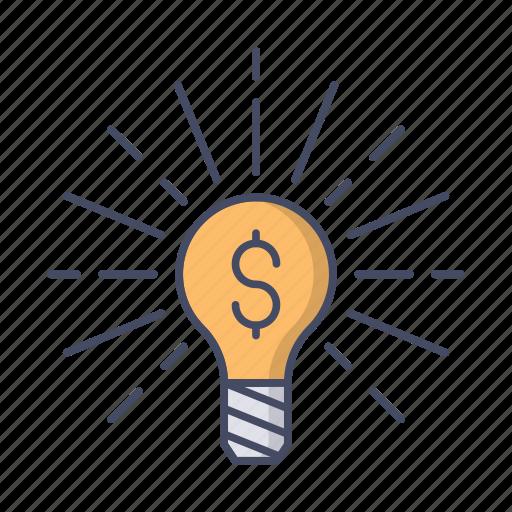 bulb, business, creative, idea, light, lightbulb, money icon