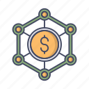 business, company, holding, money, office, structure icon