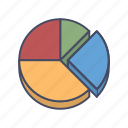 analytics, chart, diagram, graph, radial, statistics icon