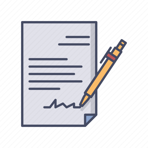 agreement, business, contract, deal, document, handshake, signed icon