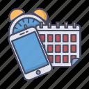 calendar, clock, organize, reminder, schedule, smartphone, todo icon