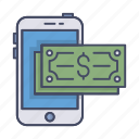 app, card, device, finance, money, payment, smartphone icon