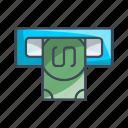 atm, money, transaction