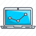 analytics, computer, graph, monitor, statistics icon