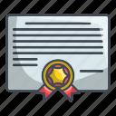 certificate, diplom, diploma, graduation icon