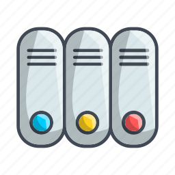 archive, archives, documents, folders icon