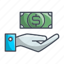 gesture, hand, money, payment icon