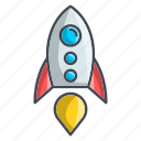 launch, missile, rocket, seo, spaceship icon