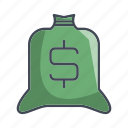 bag, dollar, money, sacm icon