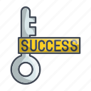 goal, key, success, successkey icon