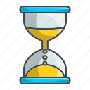 glass hour, timer, watch icon