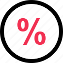 business, discount, percentage, rate, save icon