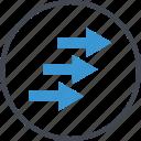 arrows, business, forward, go, next icon