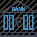 bank, banking, euro, money, sign icon