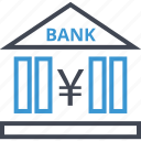 bank, banking, business, currency, online, yen icon
