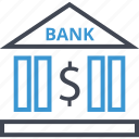 bank, banking, business, dollar, sign icon