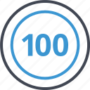 coin, hundred, one, pay, payment icon