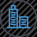 business, online, skyscraper, web icon