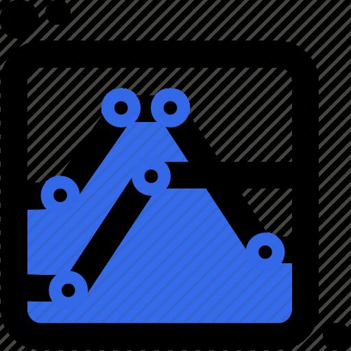 business, chart, comparison, diagram, graph, lines, presentation icon