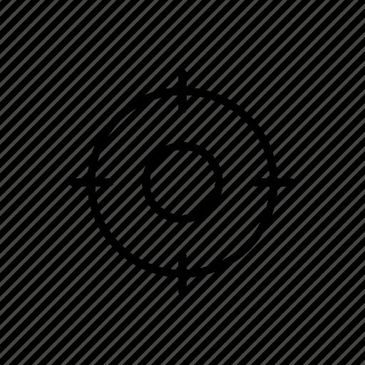 aim, bullseye, crosshair, focus, shoot, target icon