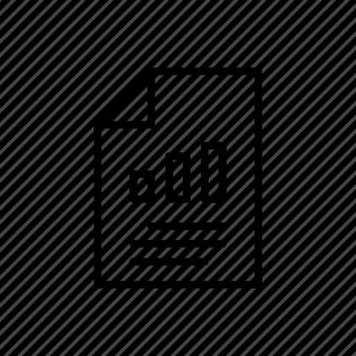bar graph, data, document, documents, graph, report, statistics icon